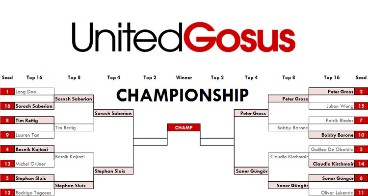 Top 16 Bracket of the United Gosus Championship 2013